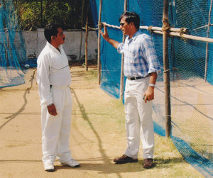 MCA Guest Coach Rajesh Chauhan with Sunil Mujumdar