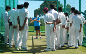 Garry Kristen batting techniques to MCA Students