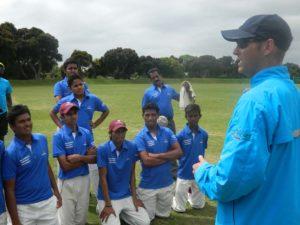Garry Kristen sharing cricket tips to MCA Team