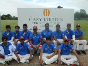 MCA Cricket Team Tour at Gary Kirsten Cricket Academy Cape Town